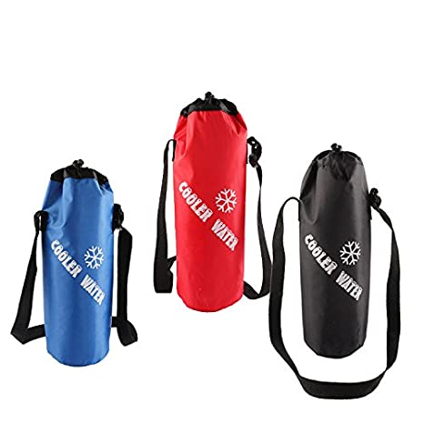 Water Bottle Pouch High Capacity Insulated Cooler Bag Outdoor Traveling