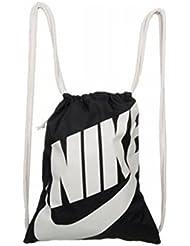 Nike Heritage Gym Sack Pack, Black, One Size