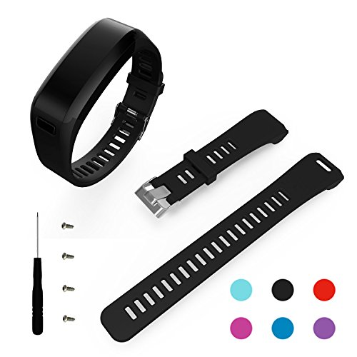 BeneStellar for Garmin Vivosmart HR Band, Replacement Soft Silicone Bracelet Sport Strap Wristband Accessory with Screwdriver for Garmin Vivosmart HR(No Tracker, Replacement Bands Only)