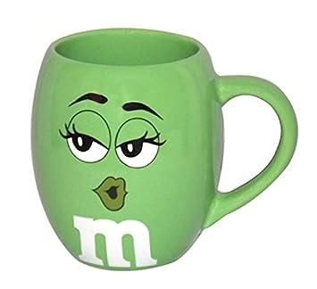 By M amp;ms Mug Ceramic Green Wsignature Barrel Character Face M Big cl1JTKF3