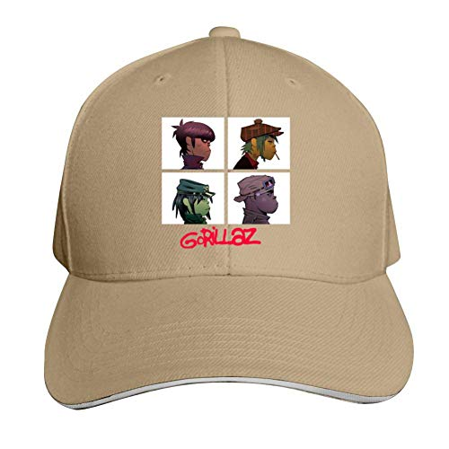 - SsSEYYA Sandwich Cap Russel Noodle-Gorillaz Durable Baseball Hats Adjustable Peaked Trucker Cap Natural