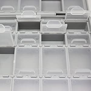AIDETEK BOXALL48 48 lids empty enclosure SMD SMT organizer surface mount