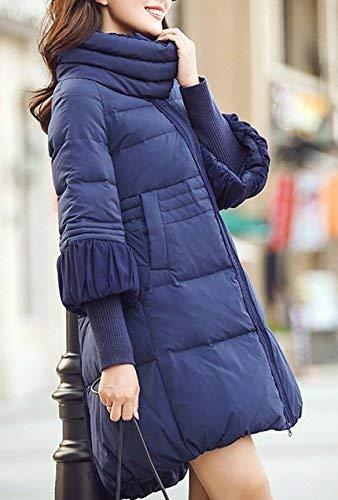 Invernali Giacca Lunga Donna A Collo Taglie Inverno Colore Sciolto Giacche Mode Marca Piumino Di Puro Moda Elegante Bianca Autunno Casual Trapuntata Forti Alto Manica Cappotto Cappotti vmONn08w