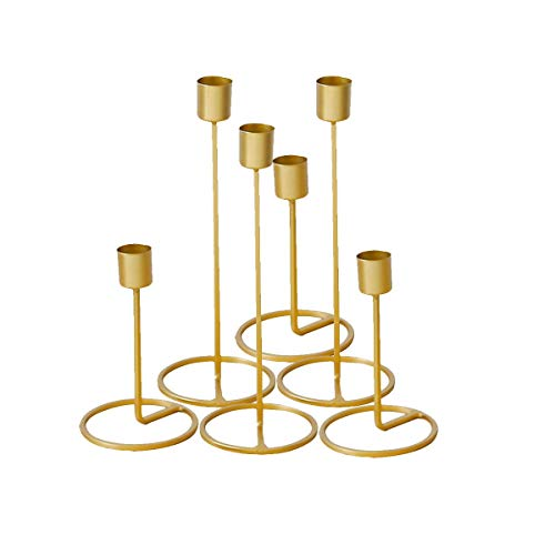 Bonaweite Candle Holders Decorations Romantic Decor Candlestick Decorative Accessories for Wedding Party Living Room Table Home ()