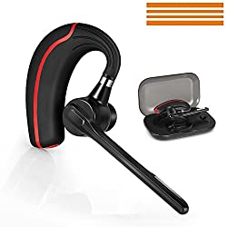 Bluetooth Headset, Wireless Bluetooth Earpiece with Mic Mute Switch for Trucker Handsfree Bluetooth Headphones 4.1 Headsets Earphone Compatible for iPhone Android Cellphone