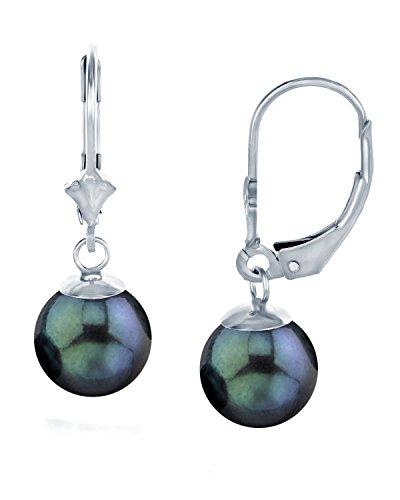 Luster Cultured Pearl Leverback Earrings