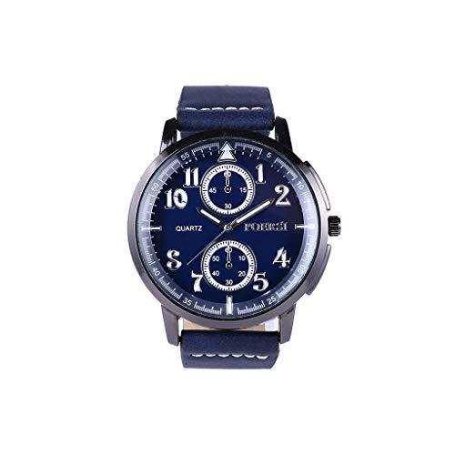 Amazon.com: Fxbar Mens Watch, Fashion Quartz Analog Leather Wrist Watch Multifunction Business Watches (Gray): Health & Personal Care