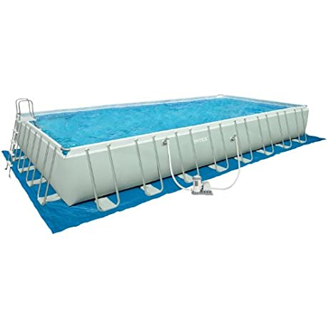 Intex 32 Foot By 16 Foot By 52 Inch Rectangular Ultra Frame Pool Older Model