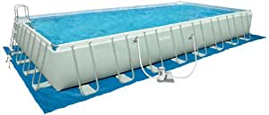 Intex 32 foot by 16 foot by 52 inch rectangular ultra frame pool older model for A rectangular swimming pool is 6 ft deep