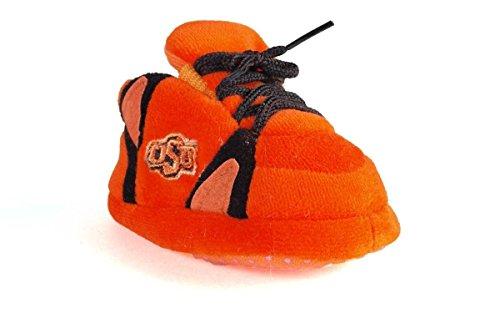 OKS03PR - Oklahoma State Cowboys NCAA Happy Feet Baby Slippers