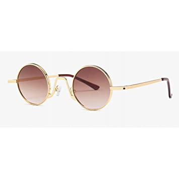 AAMOUSE Gafas de Sol Gafas de Sol Redondas pequeñas ...