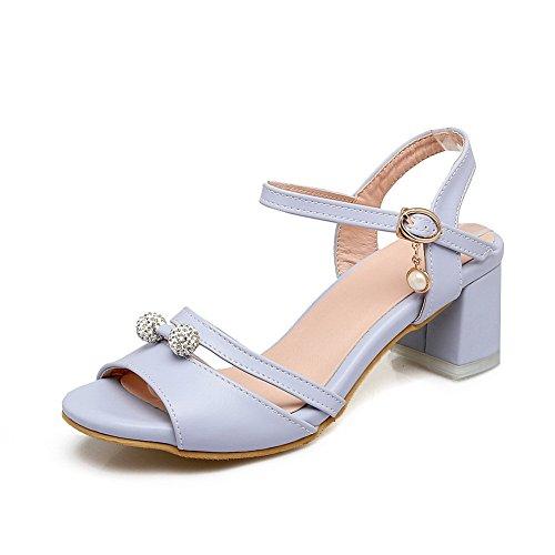 BalaMasa Womens Studded Non-Marking Mini-Size Urethane Sandals ASL05105 Blue