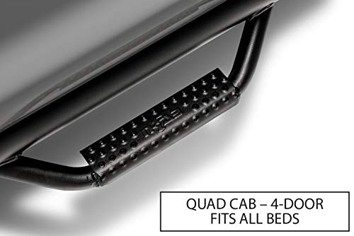 N-FAB D0273QC-TX Textured Black Nerf Step; Cab Length Dodge Ram Quad Cab 4 Door All Beds 02-08