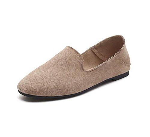 KUKI Flache runde faule Schuhe Wildleder Erbsen Schuhe , 3 , US6.5-7 / EU37 / UK4.5-5 / CN37
