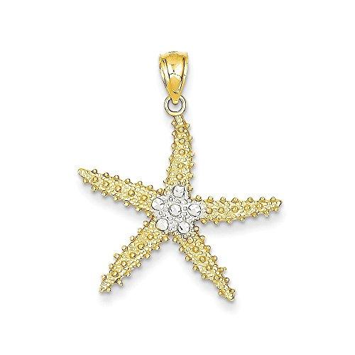 Prices for Diamond Cut Starfish Pendant - 4