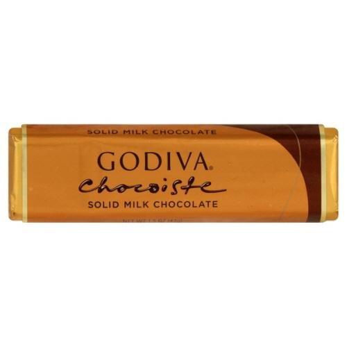 [Godiva Solid Milk Chocolate Bar, 1.5 Ounce (Pack of 24)] (Belgium Chocolate Favors)