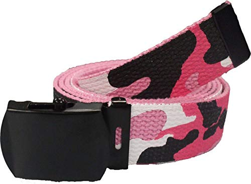 AccessoriesClothing New Military Web Belt Cotton Canvas Adjustable Camo Army Tactical Skater Webbed