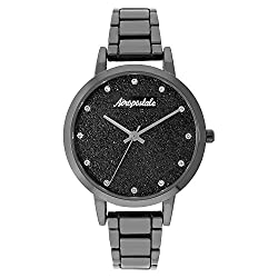 Aéropostale Women's Quartz Gunmetal Watch - Galaxy Dial - Casual Business Watch