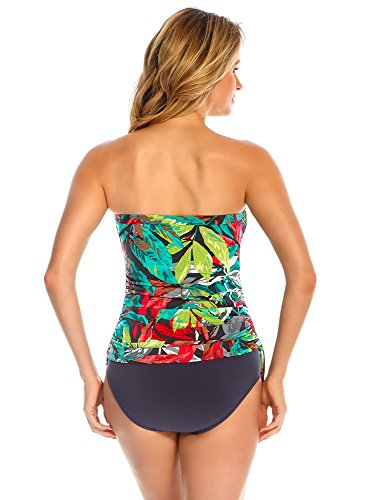 Magicsuit Women's Nirvana Bandeau Tankini Top Multi 14 by Magic Suit (Image #1)