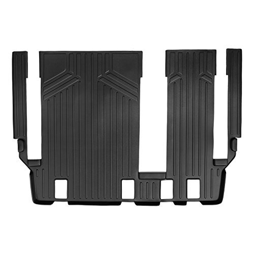 SMARTLINER Floor Mats 3rd Row Liner Without 2nd Row Track Coverage Black for 2011-2018 Toyota Sienna 8 Passenger Model ()