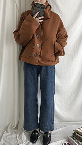 Corea Vita Straight JOTHIN Casual Calzoni Unita lunghe lavaggio alta Invernali Tinta Jeans Flare 2017 hop Larghi hip Donna Eleganti Pantaloni CqTt8q