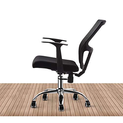 WyaengHai kontorsstol kontor stjärna mitten andningsbar rygg och säte justerbar svart chefsstol