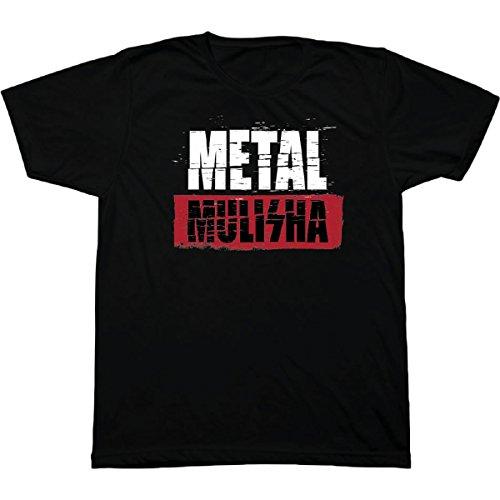 Brick Logo T-shirt (Metal Mulisha Men's Graphic Original Logo Tee T-Shirt, Brick Black, L)