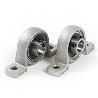 "Pillow Block Bearing, Letool4pcs Zinc Alloy Diameter 8mm 5/16"" Bore Ball Bearing Pillow Block Mounted Support Kit"