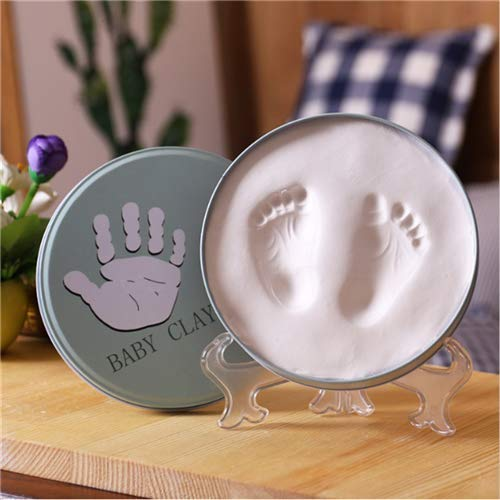 Baby Ornament Keepsake Kit Handprint /& Footprint Clay Casting Kit Personalized Registry Unique Baby Shower Gift Ideas for Newborn Boys and Girls Nursery Decor