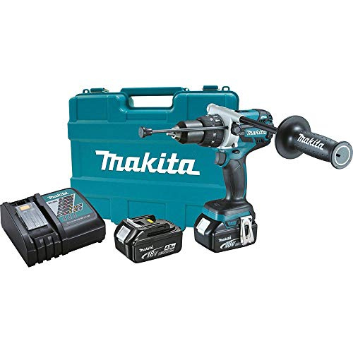 Makita XPH07M-R 18V LXT 4.0 Ah Cordless Lithium-Ion Brushless 1/2 in. Hammer Driver Drill Kit (Renewed)