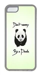 iPhone 5c case, Cute Be A Panda iPhone 5c Cover, iPhone 5c Cases, Soft Clear iPhone 5c Covers