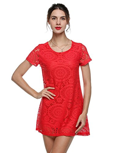 Party Red Multi Dresses Lace Dress bulges Extender Dress Color Lace Short Girls Dress E1wnq7n