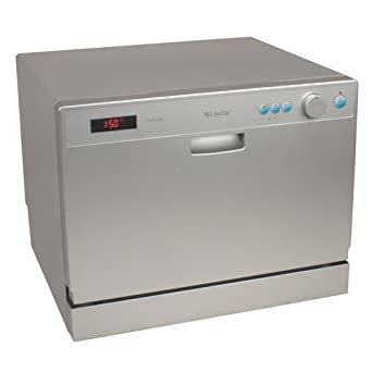 Countertop Dishwasher Under The Sink : ... Place Setting Countertop Portable Dishwasher - Silver: Appliances