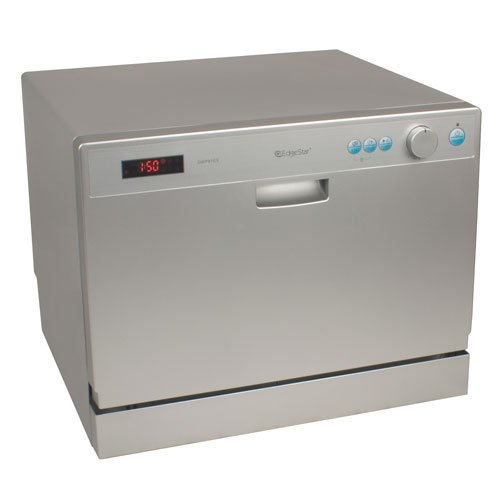 EdgeStar 6 Place Setting Countertop Portable Dishwasher - Silver