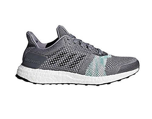 adidas Women's Ultra Boost ST, Grey/Green, 9 B