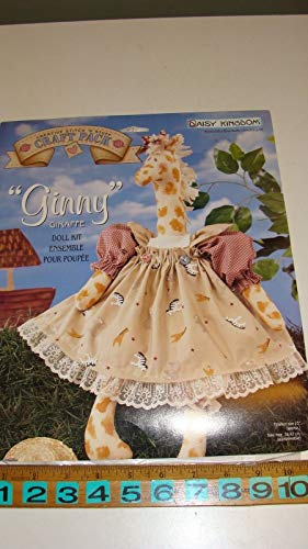 Daisy Kingdom #0130-04015 Ginny Giraffe Cut & Sew Soft Sculpture Doll Fabric Panel - NIP (Daisy Kingdom Doll)