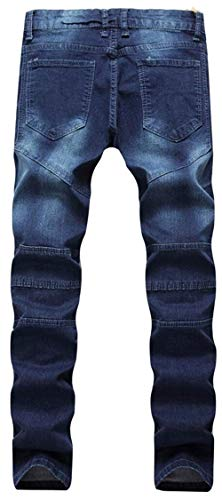 34 693 Denim Fit Da Uomo Jeans Stonewashed darkblue Skinny Pantaloni color Usati Regular Size wvOqxR