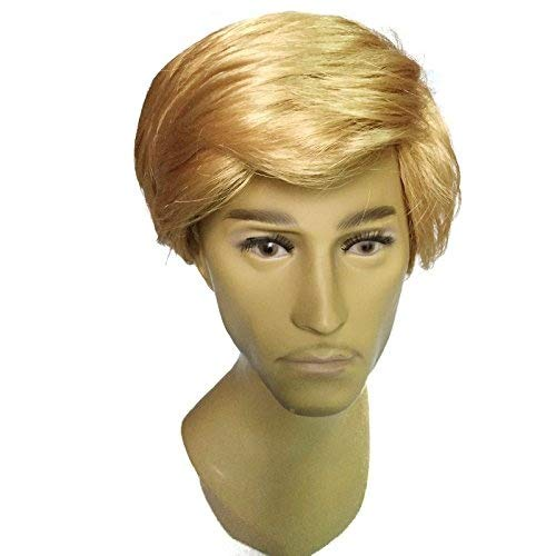 Ladies Mens Wig Disfraz Disfraz Halloween Party Accesorio Rojo Blanco Azul Sirena Rosa Donald Trump Rubio Largo Bob Ondulado (Donald Trump): Amazon.es: ...