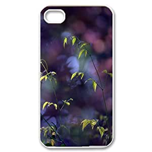 IPhone 4/4s Cases Plant Twigs Bokeh Cheap for Boys, Iphone 4 Case Tyquin, {White}