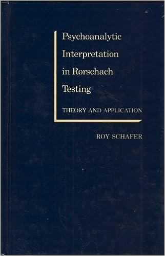 Amazon psychoanalytic interpretation in rorschach testing psychoanalytic interpretation in rorschach testing first edition edition fandeluxe Images