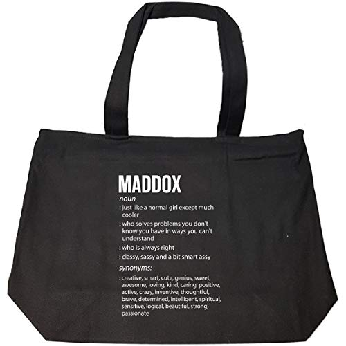 Maddox Name Meaning Xmas Birthday Gift - Tote Bag With Zip
