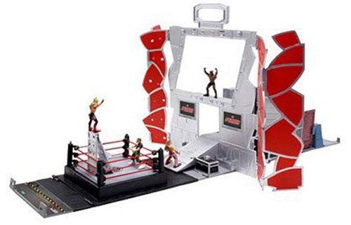 WWE Micro Aggression Backstage Playset with Figures by Jakks Pacific