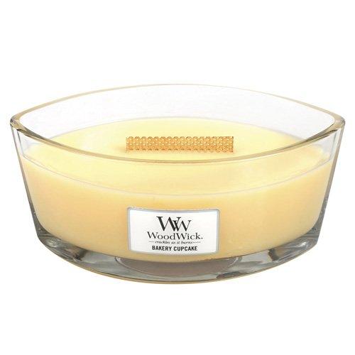 WoodWick Bakery Cupcake in Glass Jar Yellow Large 16 oz