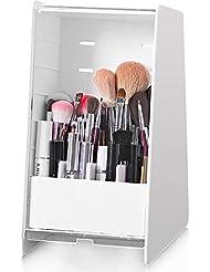 Cq acrylic Dust-Proof Makeup Brush Holder,Beauty Brush Organizer,Pack of 1