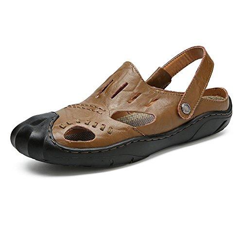 Sin Libre Hombre Llpsh Cerrada Casual Playa Sandalias Zapatillas Ajustables Al De Respaldo Zapatos Khaki By Verano Punta Aire WUnPanxO