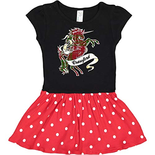 inktastic - Crawford Tartan Toddler Dress 4T Black & Red with Polka Dots 22e24 ()