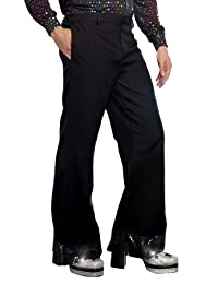 DreamGirl Men's Disco Pant, Black, XX-Large