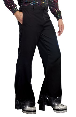 Dreamgirl Men's Disco Pant, Black, Large -