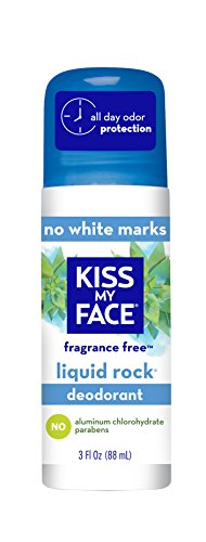 Kiss My Face Liquid Rock Roll-On Deodorant, Fragrance Free, 3 oz (Fragrance Deodorant Rock Liquid)