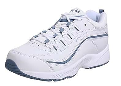 """Women's Easy Spirit Walking Sneakers """"Romy"""" - White/Lt.Blue (8W, White/Lt.Blue)"""